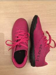 Tênis feminino rosa futebol