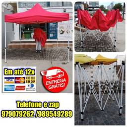 Título do anúncio: Tenda Retrátil Reforçada de tamanho 3x3m disponível vermelho