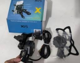 Suporte Celular com Porta USB Para Moto - Prende no Guidão - Novo