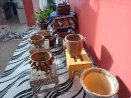 Vendo vasos artesanais para plantas em todos os tamanhos