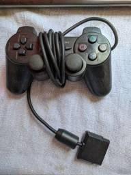 Controle Playstation 2 com defeito sucata peças