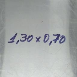 Mesa em inox escovado 430 1.30 x 0.70