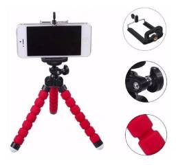 Mini Tripé flexível e ajustável para celulares e outros eletrônicos