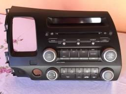Som original New Civic 2011 com comando ar condicionado