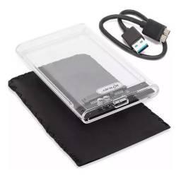 Case De Gaveta para HD 2.5 Sata USB 3.0 Transparente Knup KP-HD0012