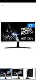 """Monitor Samsung Odyssey 27"""" e 240hz série CRG50. Lacrado, com nota e garantia."""