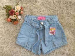 Shorts jeans infanto-juvenil