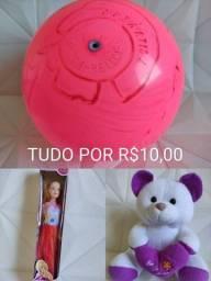Os 3 Brinquedos Por apenas 10,00 Bola Boneca e Ursinho
