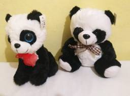 Kit 2  pelúcias Panda
