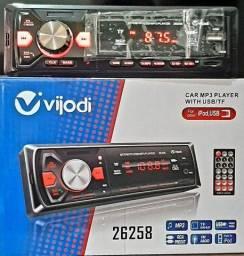 Radio automtivo vijopdi cpm bluetooth usb aux reconhece ipod 60wx4 sdaida digital