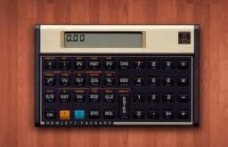 Vendo calculadora HP original gold 12c com capa em perfeito estado