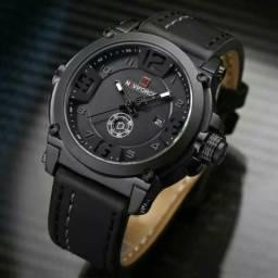 Relógio Masculino Pulseira de Couro moderno