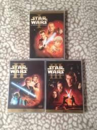 Dvds Duplos Star Wars Eps 1,2 e 3