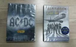 Kit DvD ACDC e Iron Maiden lacrado