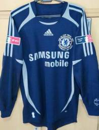 Camisa do Chelsea de goleiro Final da Copa da Inglaterra x Manchester United. Camisas