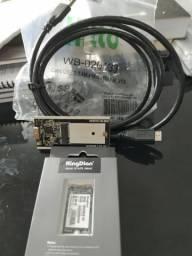 SSD KingDian 64GB M.2, novo, nunca utilizado + brinde!!
