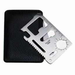 Cartão De Bolso Multi-ferramenta 11 em 1 + Brinde