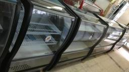 Balcão refrigerado para tortas e sobremesas polar-frente em inox - 1 ano garantia