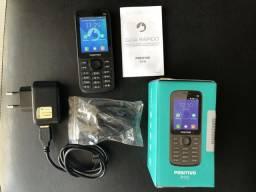 Celular marca positivo Dual Sim c/ botão de WhatsApp 3G Wi-Fi e Bluetooth