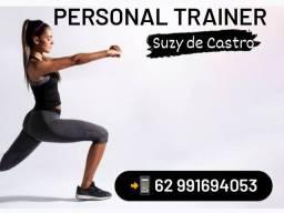Treine com acompanhamento. Personal trainer Suzy