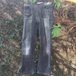 Calça Jeans Preto Tamanho 44