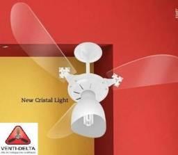 Ventilador De Teto Chave c3v New Cristal - Branco