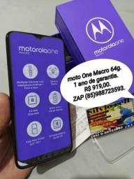 Moto one macro 64gb zerado