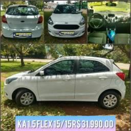 Ka 1.5 flex 15/15 R$ 31.990,00 - 2015