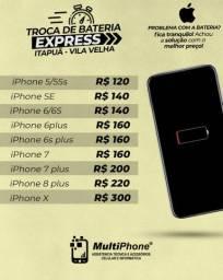 Bateria iPhone instalado na hora c/garantia