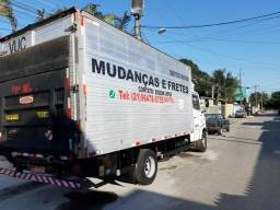 Frete frete frete mudanca e carretos caminhão baú com plataforma