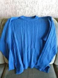 Blusa de lã fina suéter, pulover Tam M/G
