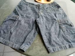 Bermuda jeans masculina tamanho 42 semi nova