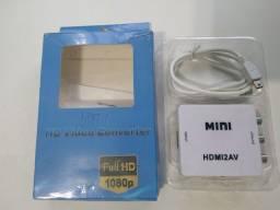 Adaptador  HD Vídeo Converter HDMI x AV