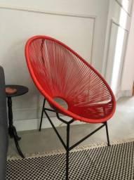 Linda Cadeira Acapulco vermelha