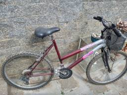 Bicicleta 18 marchas aro 26 - arsenal Race girl - com cestinha