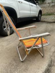 Cadeira em alumínio mor