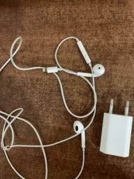 Fone e fonte de carregar original Apple