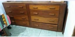 Móvel Rústico - Cômoda de madeira maciça (Madeira Cerejeira)  8 gavetas