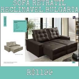 Sofá Retrátil Reclinável Bulgária