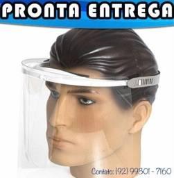 Máscara Viseira de Proteção Facial - Alta Transparência