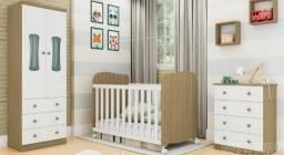 Kit quarto completo para bebê, possui: berço com varal mosqueteiro incluso e +   NOVO