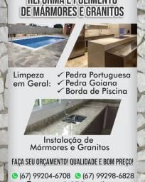 Instalação e fabricação de mármores e granitos em geral