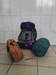 Kit de equipamentos para camping