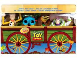 Toy Story Baú De Brinquedos Do Andy com 4 Personagens Mattel