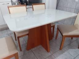 Título do anúncio: Mesa 4 lugares pintura laka e madeira