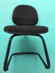 Título do anúncio: Cadeira Golden Fixa Tecido Soft Cor Black P/ Escritório, Excelente Estado