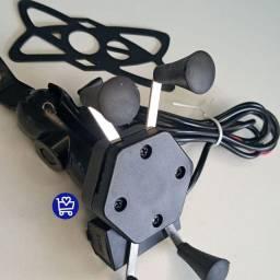 SUPORTE PARA MOTO COM CARREGADOR USB