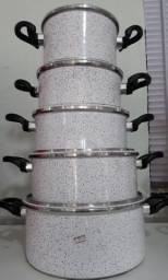 Panela de Alumínio Repuxado C/ 5 Unidades