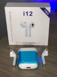 Fone De Ouvido Tws I12 Via Bluetooth A Prova Dágua