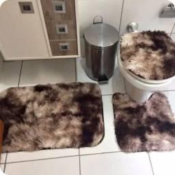 Conjunto de banheiro peludinho